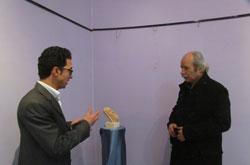 استقبال از نمایشگاه مجسمه های اردشیر محرابی در همدان